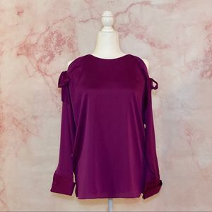 NWT- DKNY Open Shoulder Blouse - S